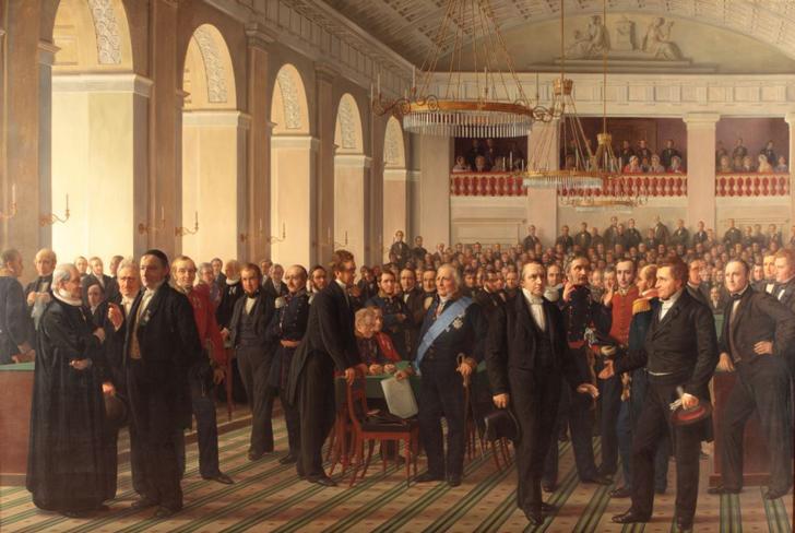 Den Grundlovgivende Rigsforsamling af Constantin Hansen