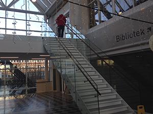 Trappe til Holte Bibliotek