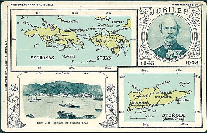 Postkortet er udgivet i anledning af kong Christian IXs 40 års regeringsjubilæum i 1903