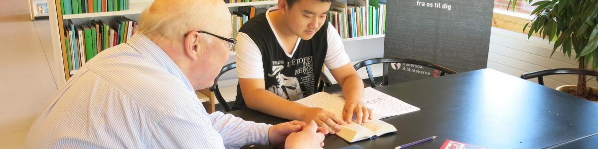 Foto: Lektiehjælper hjælper tosproget studerende