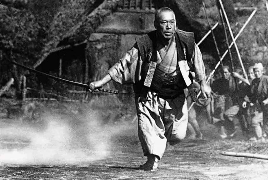 Foto fra filmen 'De syv samuraier'