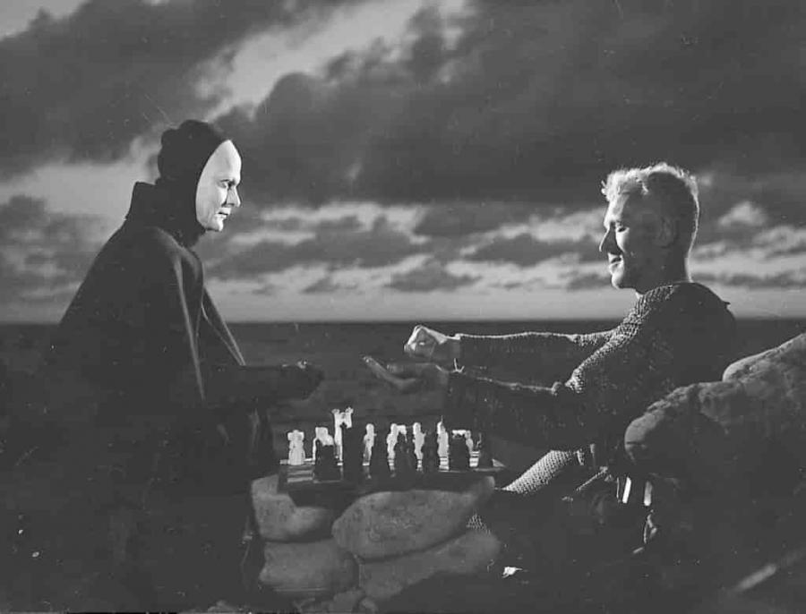 Foto fra filmen 'Det syvende segl'
