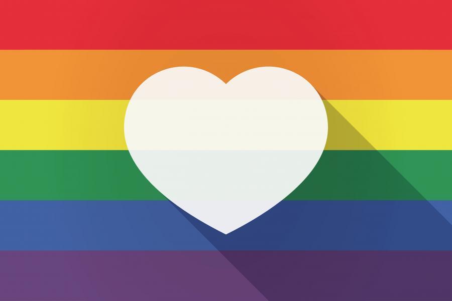 Regnbue med hjerte
