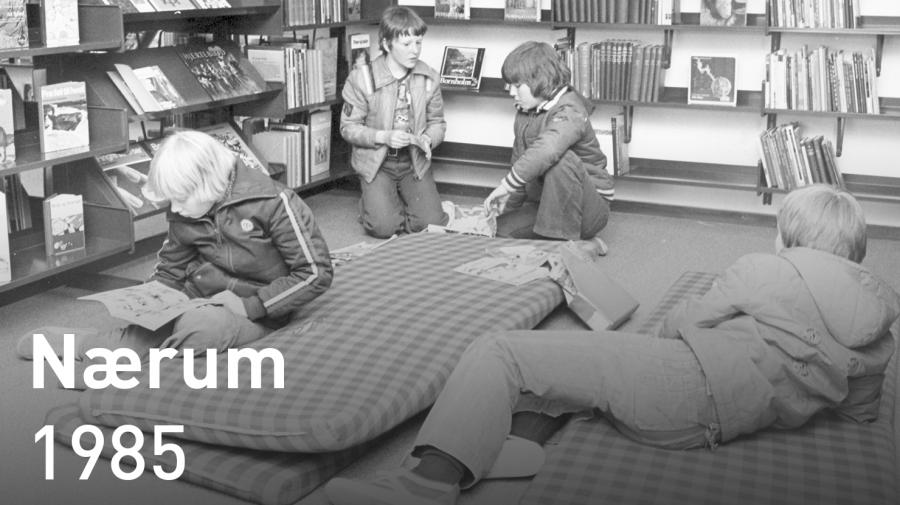 Nærum Bibliotek i 1985