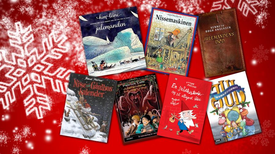 Forsider af forskellige julebøger