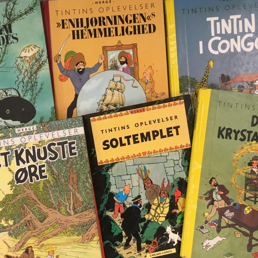Foto: Tintin tegneserier