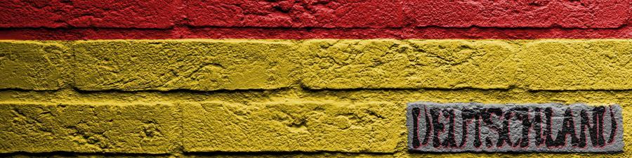 Tysk flag malet på væg